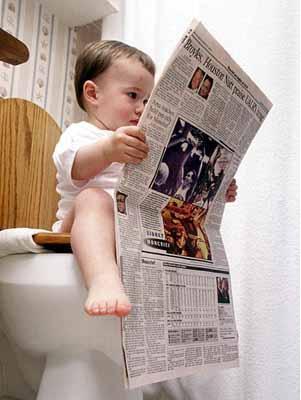 Tuntutlah ilmu mulai dari WC (?) sampai ke liang lahad.