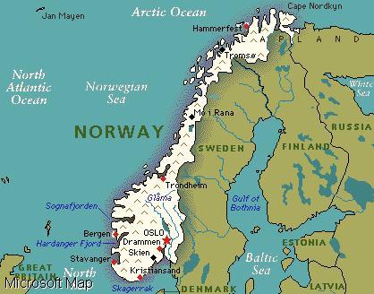 peta-norwegia