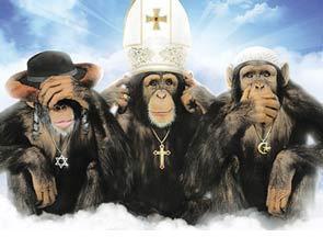 (Peradaban) Barat mengejek penganut agama.