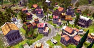 Imperium Romawi dalam sebuah game komputer.