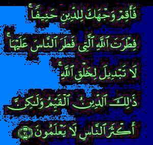 Surat Ar-Rum ayat 30.