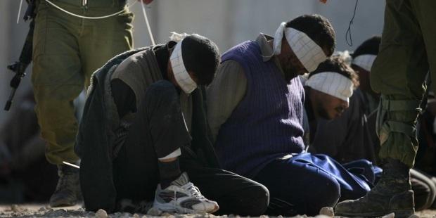 Warga Palestina dlm tahanan Israel